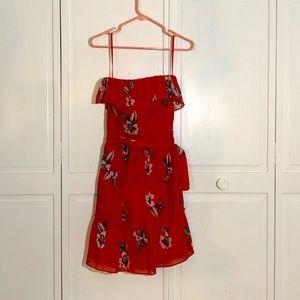 White House Black Market red ruffle dress